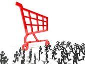 3d consumerism symbol, business metaphor — Stock Photo