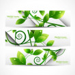 Abstract eco set of headers with three different style vector — Stock Vector #10779520