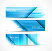 Abstract new wave header vector set illustration — Stock Vector