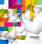 Soyut renkli mozaik daire plan vektör — Stok Vektör