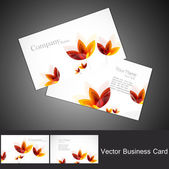 Abstract seamless floral business card set vector — Wektor stockowy