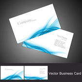 Abstract colorful business card set vector — Stock Vector