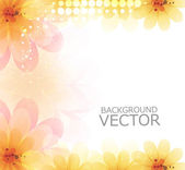 Abstract beautiful flower background vector design — Vettoriale Stock