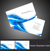 Abstract business card set technology vector — Stock Vector