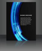 Abstract flyer vector brochure design illustration — Stock Vector
