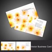 Abstract seamless floral business card set vector — Stock Vector