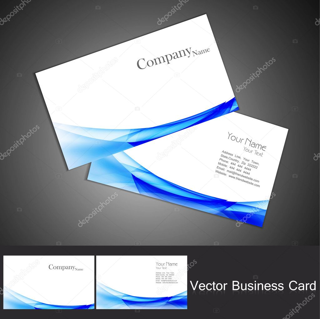 Abstract business card set vector background — Stock