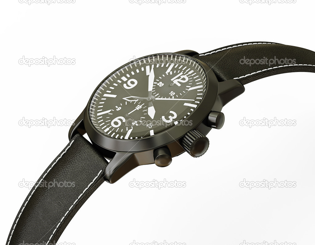 Luxury watch isolated on a white background — Stock Photo #10915467