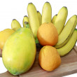 Group of fruits on white — Stock Photo