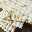Matzo bread - Stock Photo