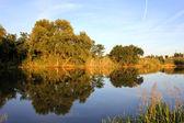 Spegel i floden — Stockfoto