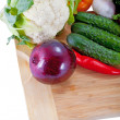 Fresh salad vegetables — Stock Photo