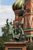 Monument to Minin and Pozharsky. Moscow, Russia — Stock Photo