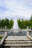 Fountains in Petergof park. The Pyramid Fountain — Stock Photo