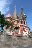 St basil cathedral. moskva, ryssland, röda torget — Stockfoto