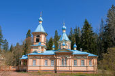 Great monasteries of Russia. Island Valaam. The church at the Gethemane Skete — Stock Photo