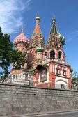 Katedrála svatého basila. moskva, rusko, rudé náměstí — Stock fotografie