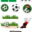 Football collection — Stock Vector