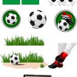 Football collection — Stock Vector