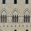 Arcitectural detail in Siena — Stock Photo