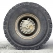 Haul truck wheel — Stock Photo
