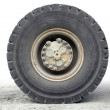 Stock Photo: Haul truck wheel