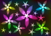 Abstract shone florets — Stock Photo