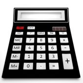 The calculator on a white background — Stock Photo