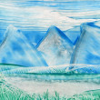 Watercolors landscape — Foto de Stock