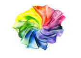 Watercolor abstract iridescent flower — Stock Photo