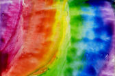 Watercolors abstract background rainbow — Stock Photo