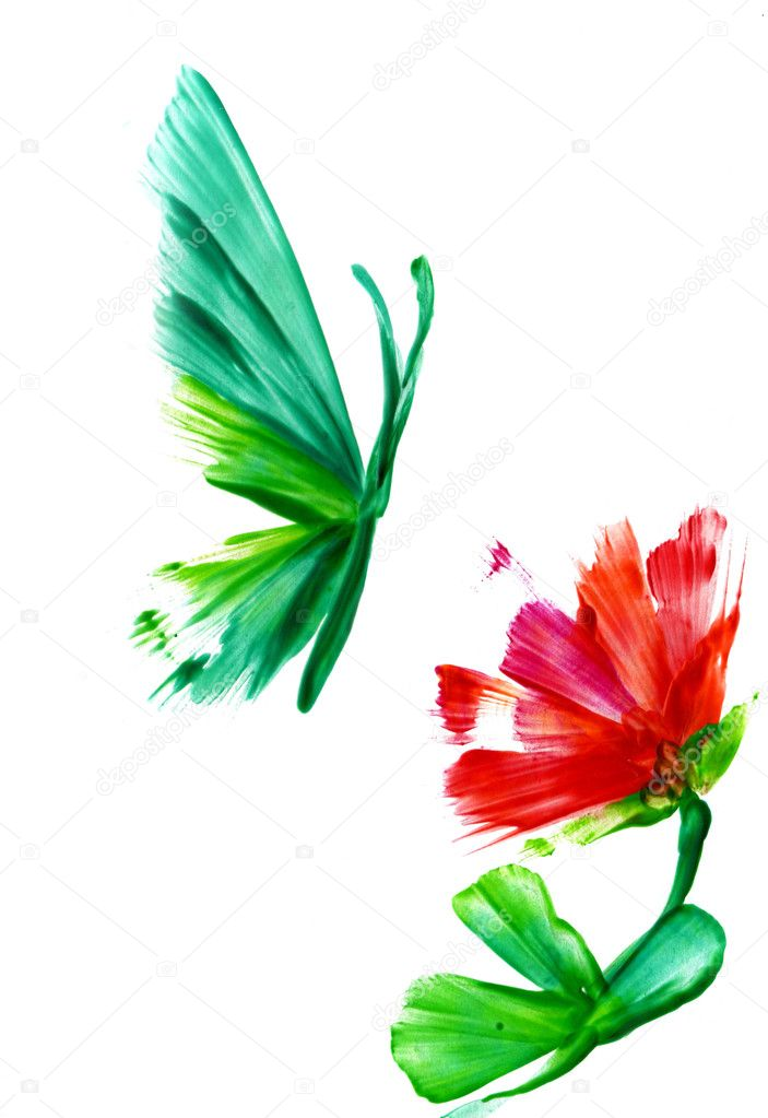 Abstract Watercolor Paintings of Flowers Watercolor an Abstract Flower