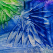 Stock Photo: Watercolors abstract blue pattern as background