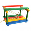 Children's wooden swing — Stock Photo