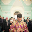 Stock Photo: MOSCOW - MARCH 13: Orthodox liturgy with bishop Mercury in High