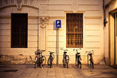 Bicycles parking — Stock Photo