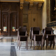 Chairs in cathedral hall — Stock Photo