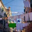 Stock Photo: Linen in Venice streets