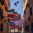 Linen in Venice streets — Stock Photo