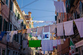Linen in Venice streets — Stock Photo