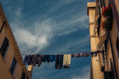 Linen on a rope — Stock Photo
