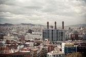 Vista della città industriale — Foto Stock