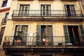 Sculpture on a balcony — Stock Photo