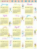 2013 カレンダー子供 — ストック写真