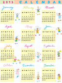 2013 kalender kinderen — Stockfoto