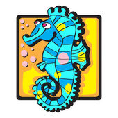 Seahorse clip art — Stock Photo