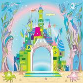 水下的城堡 — 图库照片