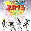 2013 new year carnival — Foto Stock