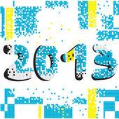 2013 pixel background — Stock Photo