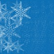 Winter background with snowflakes - Imagen vectorial